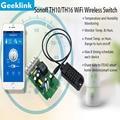 Geeklink Sonoff Й Температуры И Влажности Мониторинга Wi-Fi Smart Switch Датчик Контроллер Wi-Fi Smart Switch Набор Для Умного Дома