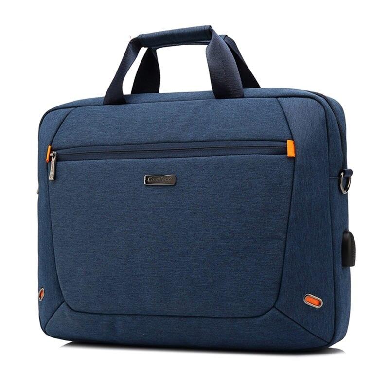 15 pouces pochette d'ordinateur d'affaires Portable en Nylon sacs à main décontractés Zipper Simple sacs à bandoulière mode Messenger sacs à bandoulière pour hommes