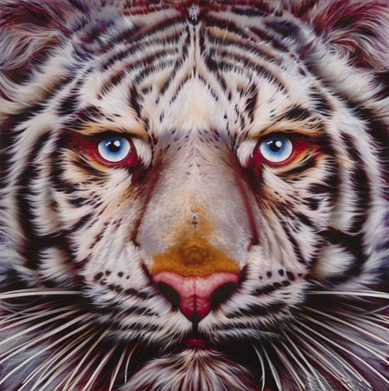 100% Pintura 5D Diy Daimond Animal Tiger 3D Pintura Diamante - Artes, artesanía y costura