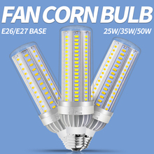 5730 SMD Corn Bulb E26 LED Lamp 220V Led Light E27 High Brightness Lights 25W 35W 50W Fan Cooling Lampadas AC 85-265V