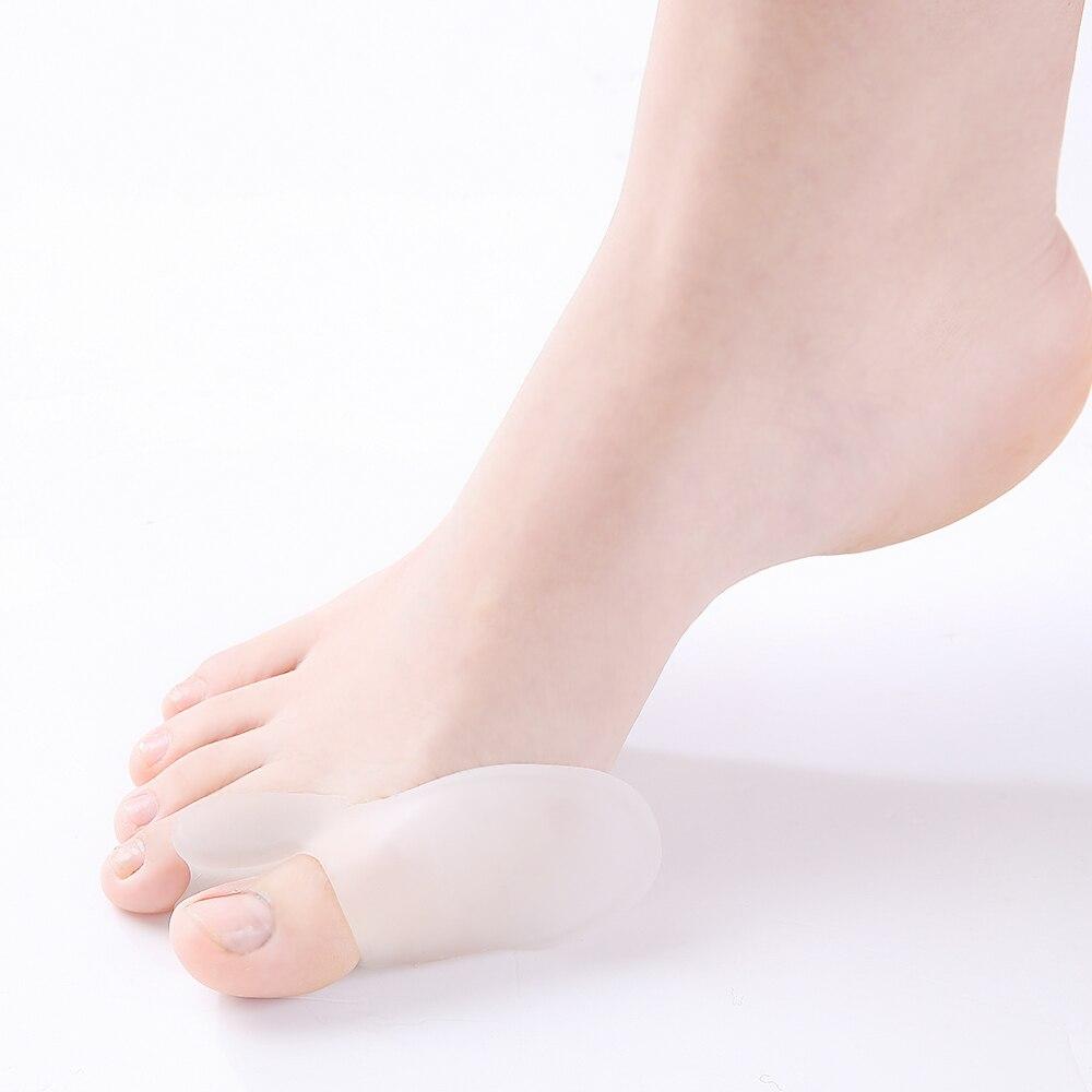 1 par de gel de silicona dedo del pie separador del dedo del pie alivio hallux valgus dolor fricción presión pie juanete toe manga protectora