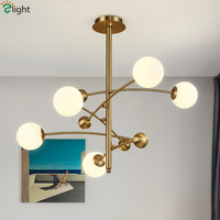 Nordic Luxury Copper Body G9 Led Chandelier 5 Light Rotatable Arms Led Pendant Chandelier Lighting Foyer Brass Chandelier Lamp