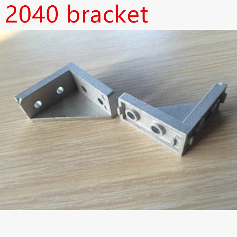 10pcs hole 4.5mm Corner Fitting Angle 20*40 <font><b>2040</b></font> Decorative <font><b>Brackets</b></font> Aluminum Profile Accessories L Connector Fasten connector image