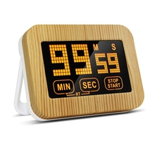 Kitchen Timer, Digital Kitchen Timer With LCD Display And Loud Alarm, Touch-Screen Timer, Retro Wood Grain Luminous Magnetic C new and original fs4a autonics timer