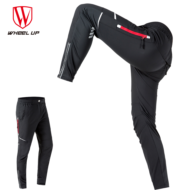 WHEEL UP Spring Autumn Men Cycling Pants Windproof Sport MTB Mountain Bike Pants Reflective Cycling Long Trousers Bicycle Pants