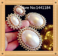 2017 Big Long Earrings for Women in Jewelry,Golden Big Imitation Pearl Stud Earrings for Wedding Party Christmas New Year Gift