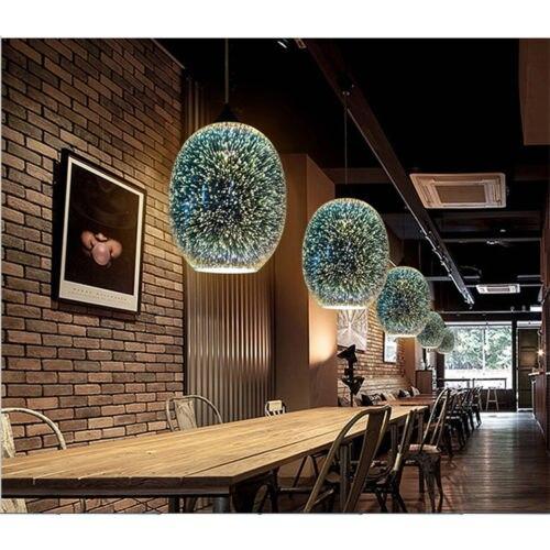 Nouveau Moderne 3D Creative Verre Abat-jour Lustre Plafond Bar Lampe Décor 7265HC