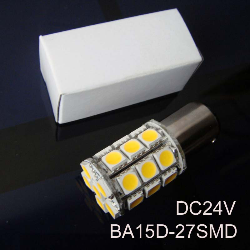 High quality 5050 12/24VAC/DC 5W BA15D led Yacht Ship Boat lamps,1142 led Warning Signal Light Bulbs 24V free shipping 2pcs/lot