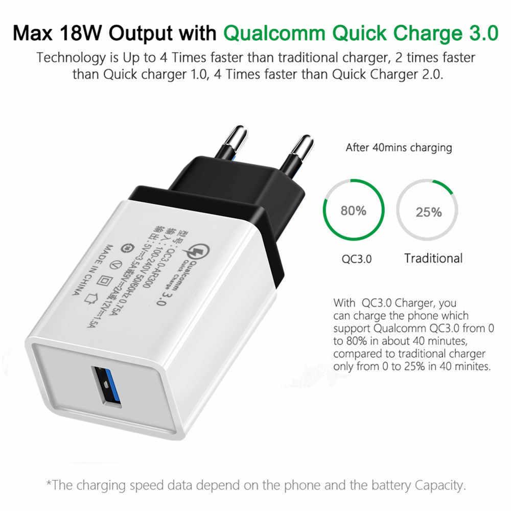 الاتحاد الأوروبي/لنا سريعة شاحن 5 V/3.5A QC 3.0 USB الهاتف شاحن جدار سريع كابلات شحن ل iphone هواوي xiaomi سامسونج غالاكسي ipad أبل