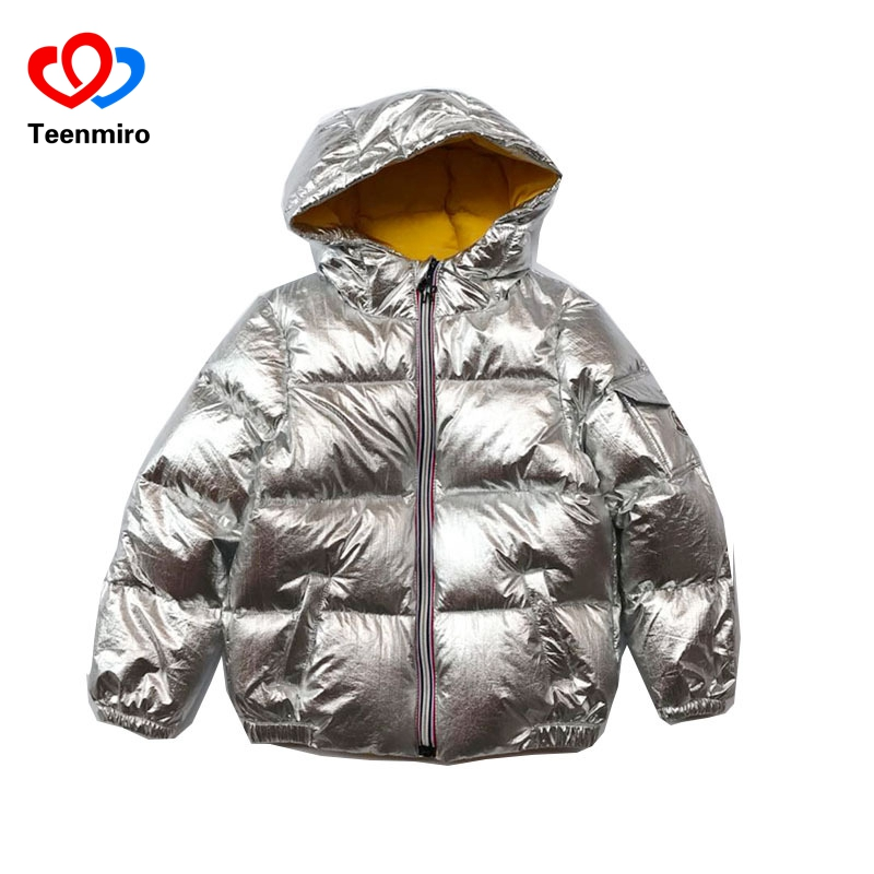 -30 Winter Jackets Kids Outwear Coats Boys Hoodie Down Jacket Warm Girls Snowsuit White Duck Down Parka Children Clothing Sliver 2016 christmas kids clothes jackets girls spring boys winter brands warm hooded coats parka white duck down children waterproof
