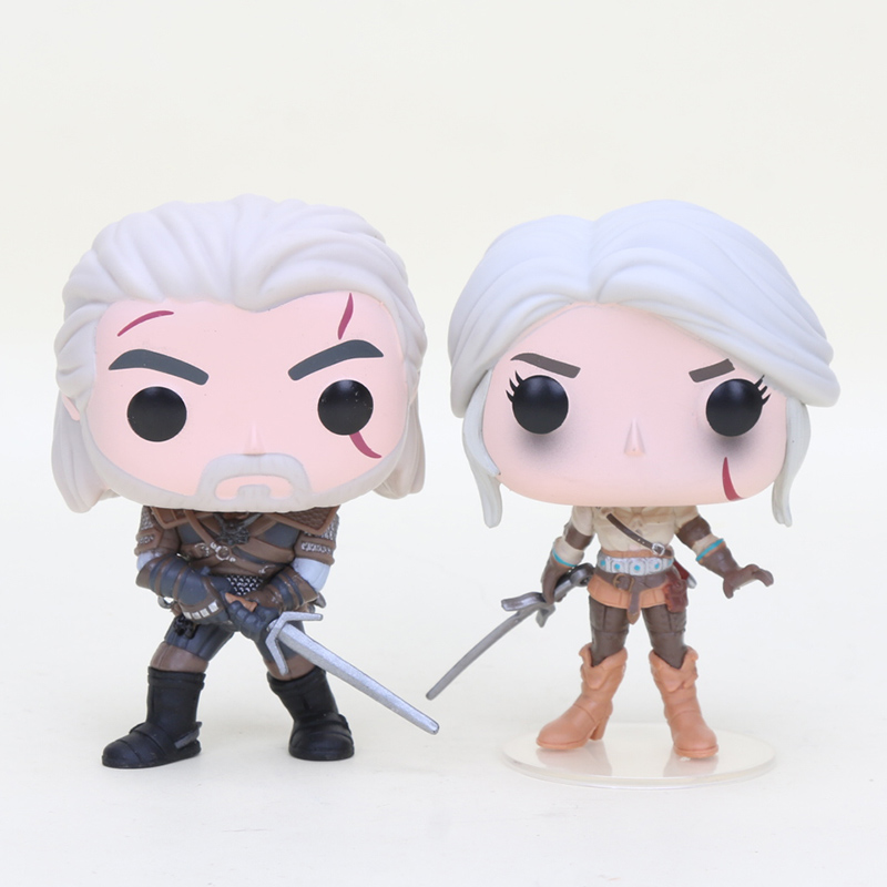 The Witcher 3 Wild Hunt Action Figures GERALT & CIRI & EREDIN 10cm VINYL Action Figure Collection Model Toys Doll Gifts