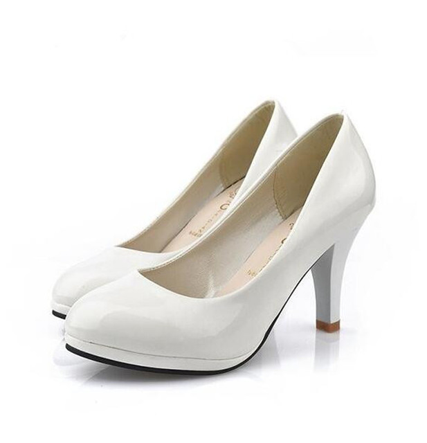 2016 Women s shoes Pumps Comfortable dress shoes heel round head  professional single black high-heeled shoes work shoes 957e119f13df