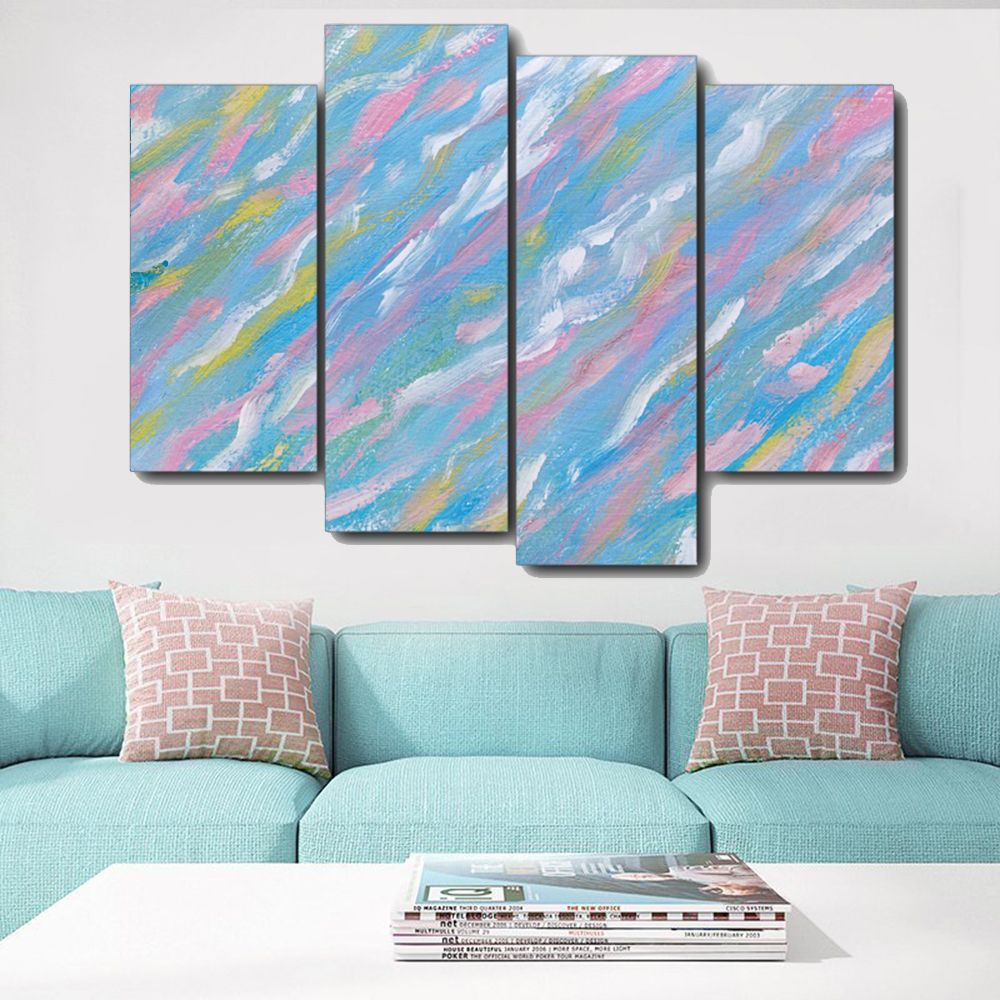 Abstract Watercolor Canvas Painting Calligraphy Prints Home Decoration Wall Art Posters Wall Pictures for Living Room Bedroom in Painting Calligraphy from Home Garden