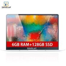 ZEUSLAP X5 15 6inch 1920X1080P 6GB Ram 128GB SSD Windows 10 system Ultrathin Quad Core Fast