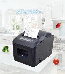 Nowa fabryka sklepy pos drukarka biletów wysokiej jakości 80mm termiczna drukarka paragonów automatyczne cięcie portu USB lub porty ethernet w Drukarki od Komputer i biuro na