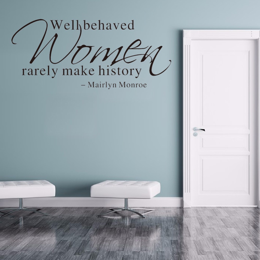 Creative Marilyn Monroe Quote Wall Stickers Sitting Room Bedroom Decorative Wall Decal Sticker Removable Wallpaper Home Decor