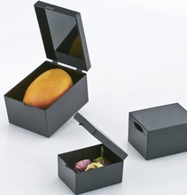 4pcs/lot 11*8.2*6.5cm Black Rectangular Specimen Box Small Jewelry Storage box bin