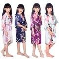 C1686 2016 New Wedding Kid Robe Satin Prom Children Gown Flower Girl Bathrobe Kimono Party Clothes Child Pajamas Bath Outfits