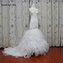 YuanDingYiSha Mermaid Wedding Dress Chapel Train