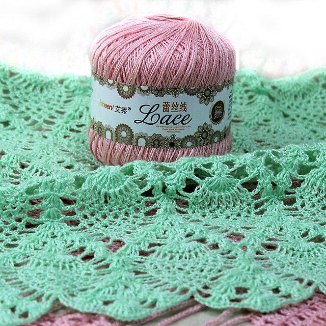 300glot 8 Lace Crochet Thread Cotton Thread Lace Yarn Summer