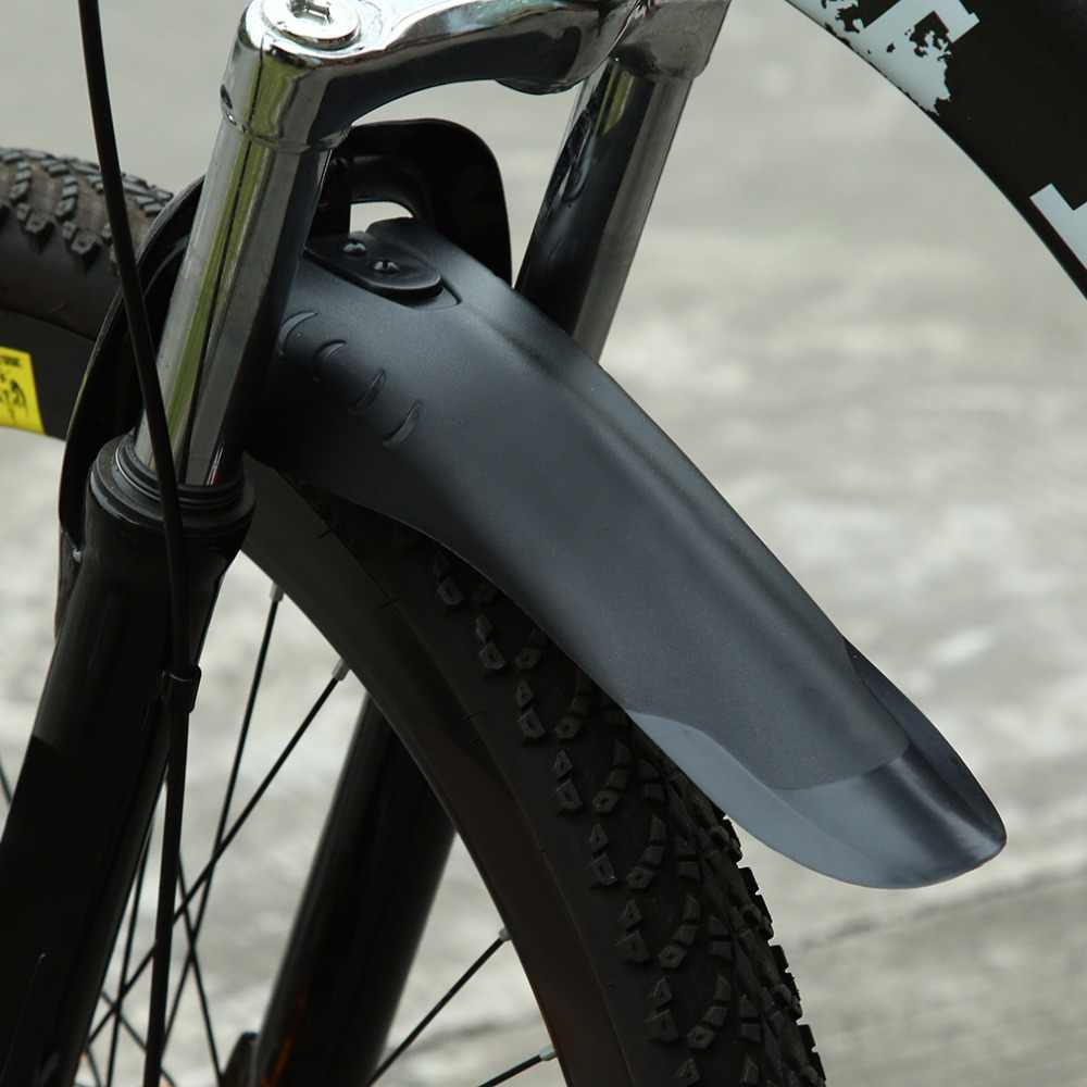 1 conjunto universal bicicleta paralama mountain bike asas frente/traseiro fender conjunto removíveis mud guards flaps 34mm tubo mantém mais limpo