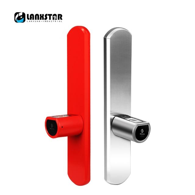 New Luxury Double System Intelligent Micro Lock Core IP44 Bluetooth Fingerprint Locks APP Management Electronic Smart Lockset