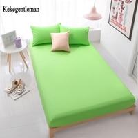 Kekegentleman 100% Cotton Solid Bed Sheet double single fitted sheet bedding linens sheets High density bed sheet White Black