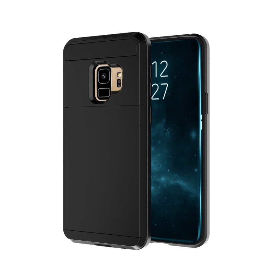 IQD For Galaxy S9 S8 Plus S7 S6 Edge Case Card Slider for samsung Note 8 5 4 3 Cover Colorful Protective shell Fitted Case Cards