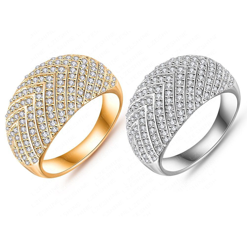 Fine Jewelry Rings New Style Arrow Pattern Ring Platinum/18K Gold ...
