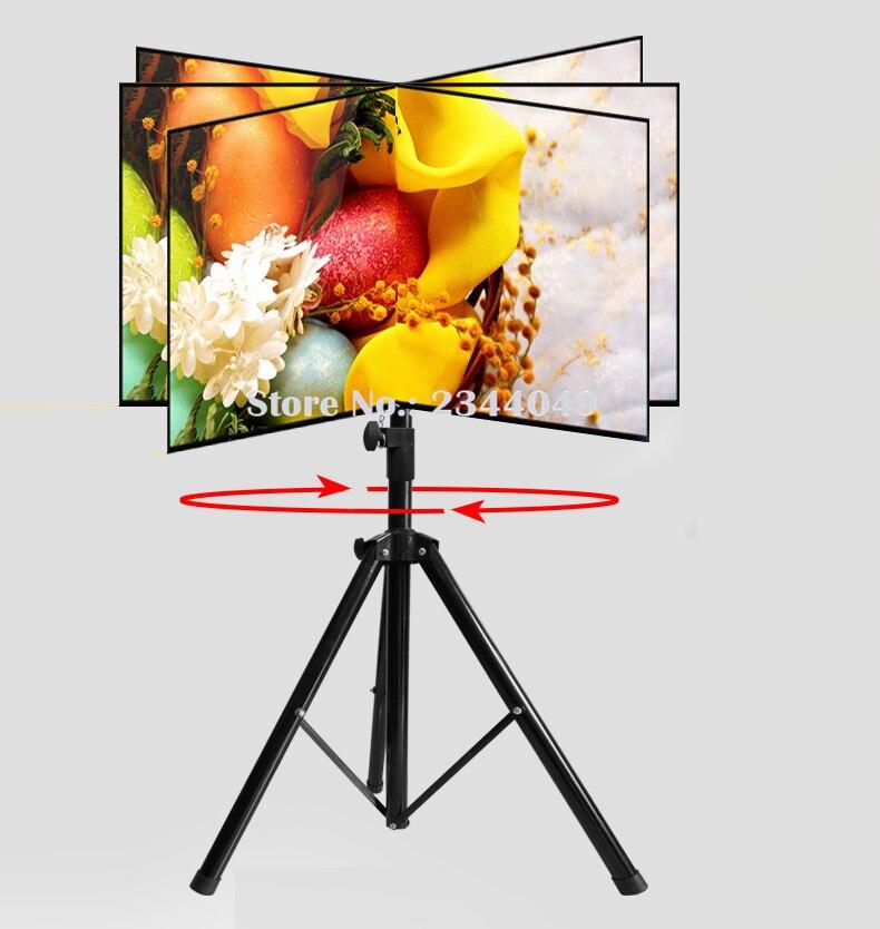 360 Degree Swivel 32~55 TV Mount Tripod Stand TRK-H44 Max.VESA 500*400mm Loading 50kgs Tilt Height Adjustable TV Floor Stand