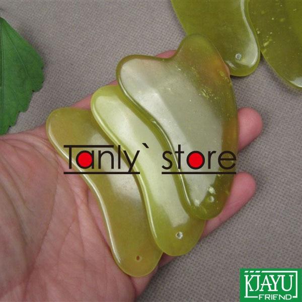 12pieces/lot wholesale body massage guasha kit triangle facial beautiful health care plate 100% jade gift gua sha chart bag