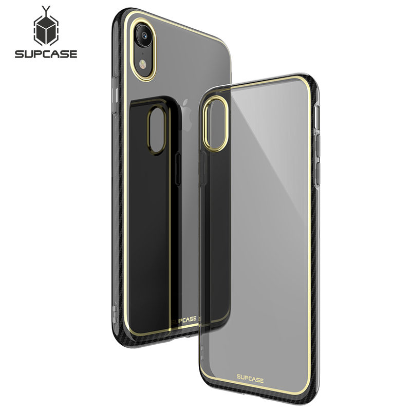 For iPhone XR 6.1 inch Case SUPCASE UB Metro Premium Slim Soft TPU Case Plated Marble Clear Protective Back Cover For iPhone XR iPhone XR