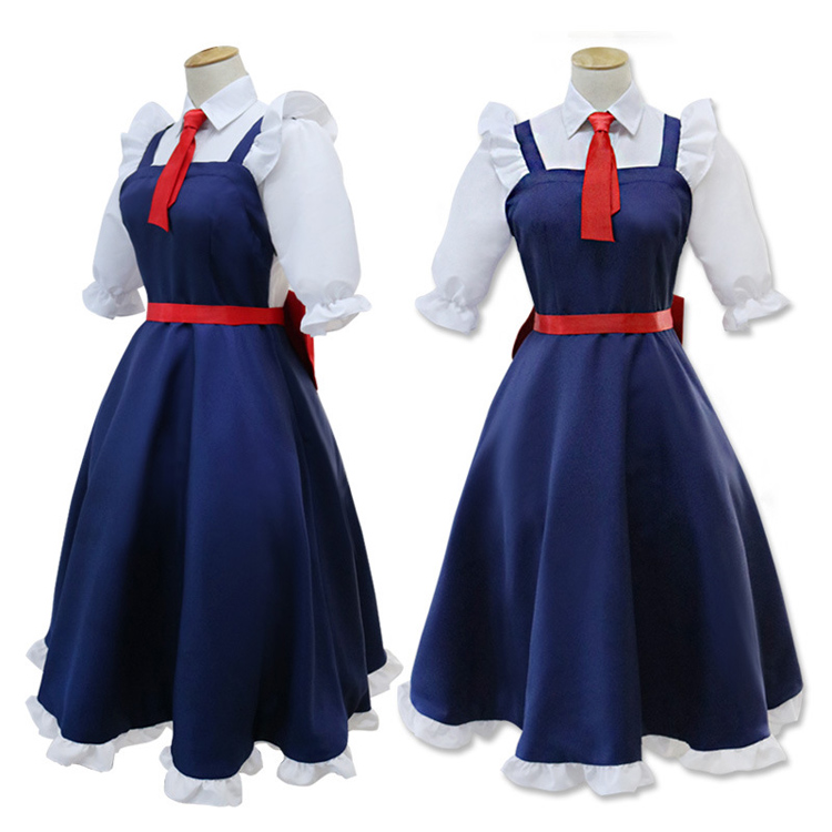 Anime Kobayashi san Chi no Maid Dragon Cosplay Costumes Miss Kobayashi's Dragon Maid Tohru Full Set Meidofuku Performance Dress