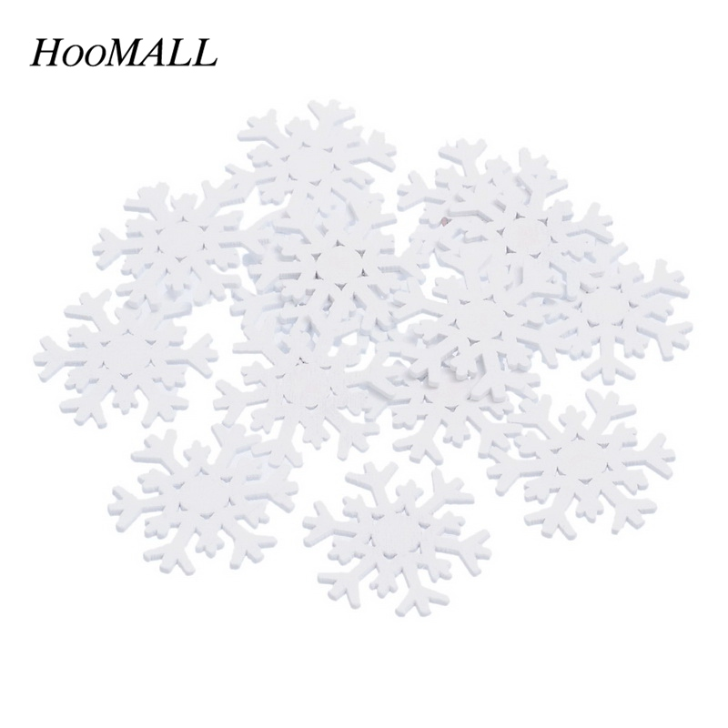 Apparel Sewing & Fabric 50pcs Christmas Holiday Wooden Collection Snowflakes Buttons Snowflakes Embellishments 18mm Creative Decoration A Complete Range Of Specifications Arts,crafts & Sewing