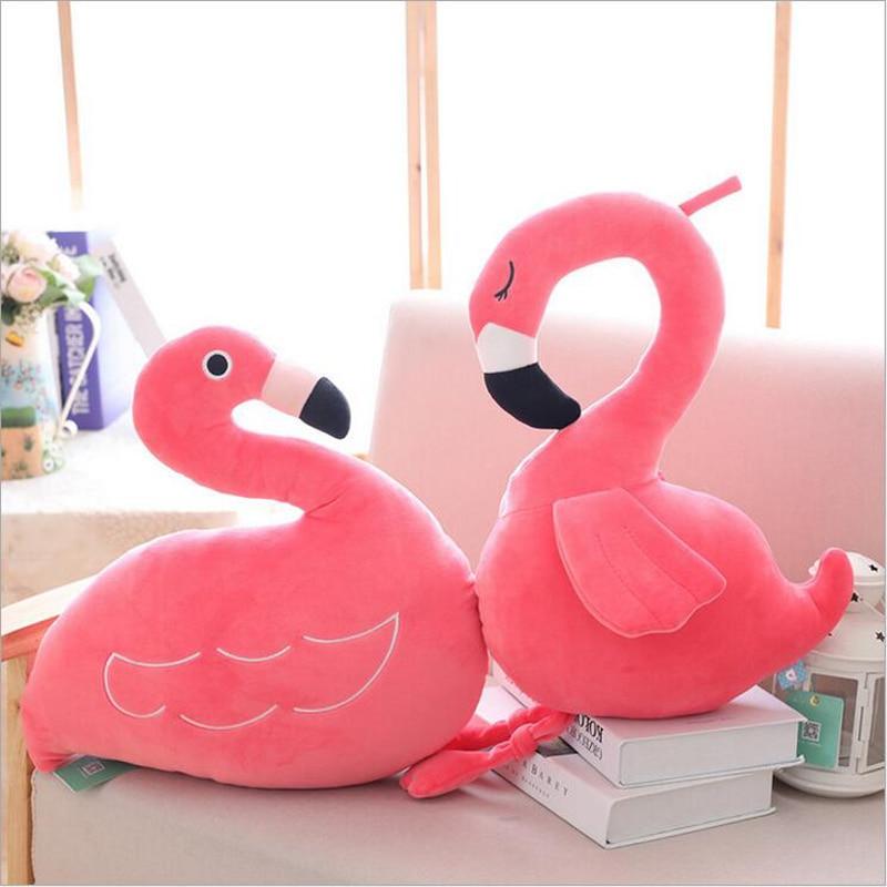 Nouveau Creative Flamingo plume coton peluche jouets doux en peluche oreiller enfants petite amie cadeau d'anniversaire