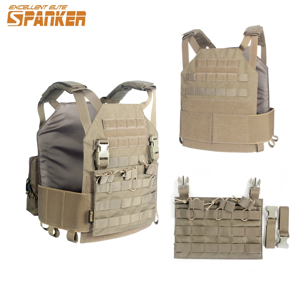 Element Airsoft Tactical Modular Vest with M4 Molle Plate M Pouch Paintball Combat Protector Vest Tactical Gear Clothing EV115 airsoft adults cs field game skeleton warrior skull paintball mask