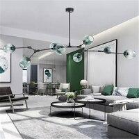 Modern Glass LED Pendant Light Nordic Dining Room Light Designer Hanging Lamps Avize Lustre Lighting Kitchen Fixtures Luminaire
