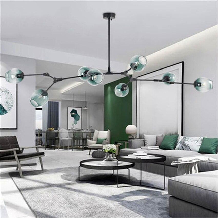 Moderne verre pendentif LED lumière nordique salle à manger lumière Designer lampes suspendues Avize Lustre éclairage luminaires de cuisine Luminaire