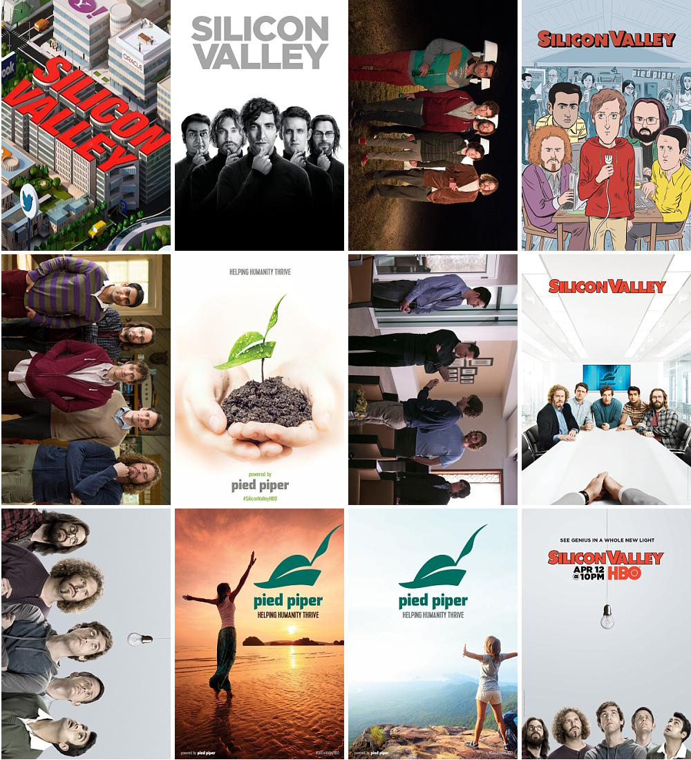 12pcs/set Silicon Valley Movie Postcard-in Cards