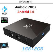 X96 S905X Quad-Core Network TV Box Android 6.0 TV BOX 4K 1080p HD Dual WIFI 3.0USB Media Player IPTV Smart Box 1GB+8GB AH-LINK