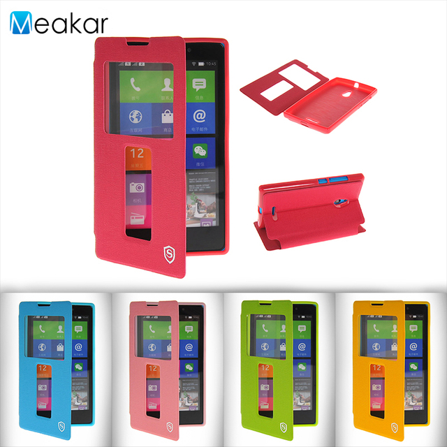Double View Window Flip Pu Leather 5.0For Nokia XL Case For Nokia XL Cell Phone Back Cover Case