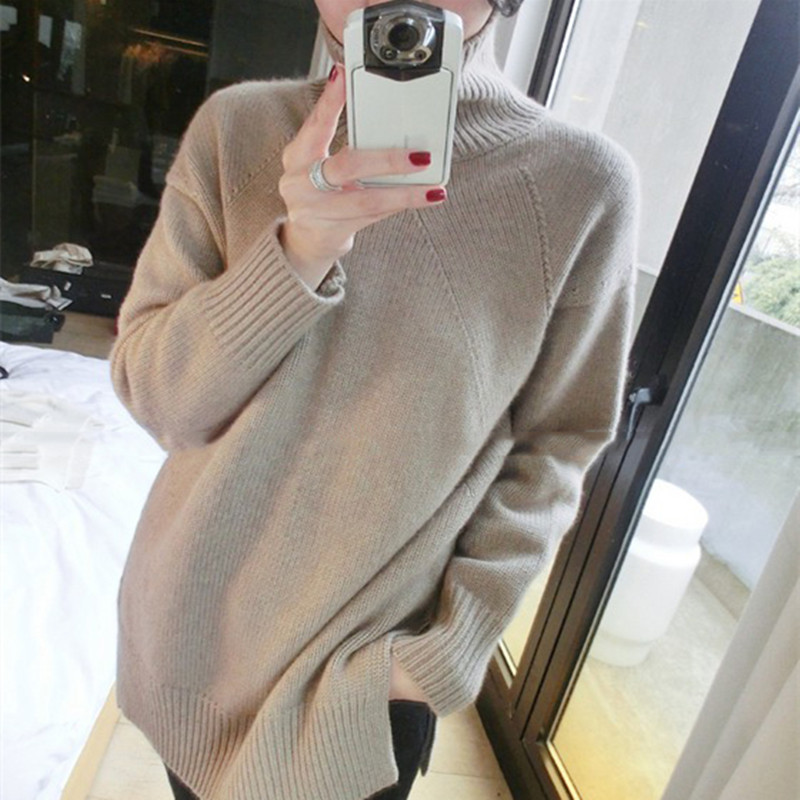 Gejas Ainyu 2019Autumn Winter  Fashion The New Cashmere Sweater Turtleneck Winter Clothes Women Sweater Knitting Pullovers Tops