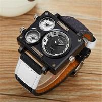 Men S Watches Top Luxury Brand Oulm 3595 Unique Designer Watches Erkek Fashion Leather Strap Japan