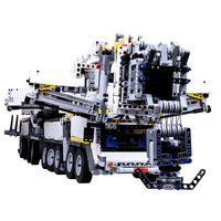 7692pcs MOC High Level Small Particles Assembly Building Block Crane Model Kit With RC Motor With Motor Remote Control Gift
