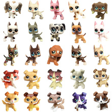лучшая цена Lps Pet Shop Toys Great Dane Collie Cocker Spaniel Short Hair Cat Lps Collection Action Standing Figure Cosplay Kids Best Gif't