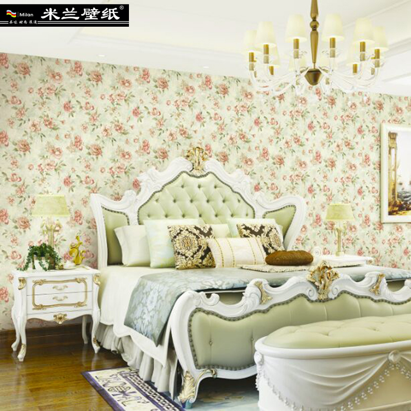 MILAN New Fashion Floral Home Decor 3d Wallpaper Roll for Living Room and Bedroom European Pastoral Style 3d Wall paper Roll pastoral style wallpaper floral 3d vertical stripe wallpapers for living room sofa tv background walls decor wall paper roll