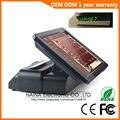 Haina Touch 15 pulgadas RFID pantalla táctil Pos Terminal de máquina con pantalla de cliente