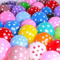 Globos con puntos de látex de 12 pulgadas, decoración para fiestas, bodas, cumpleaños, boda, venta al por mayor, 10 Uds.