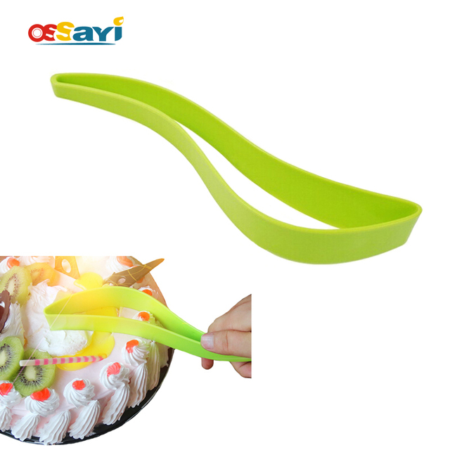 Easy Cake Pie Plastic Slicer Sheet Guide Cutter Server Bread Slice