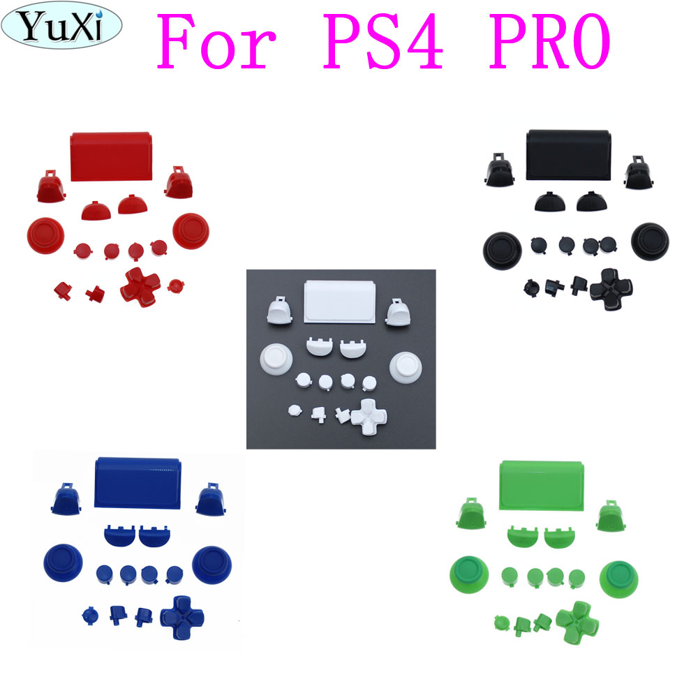 YuXi Full Set Buttons For PlayStation 4 PS4 Controller R2/L2 R1/L1 Buttons Dpad Guide Button Touchpad For PS4